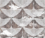 art decor swans pattern - 333619080