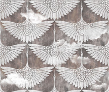 Art Decor Swans Pattern