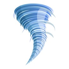 Cyclone Tornado Icon. Cartoon ...
