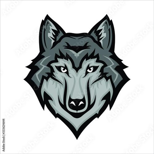 Obraz na płótnie wolf icon vector. wolf logo. wolf head logo vector