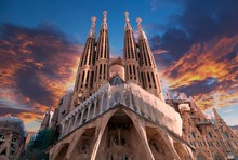 Sagrada Familia In Barcelona, ...
