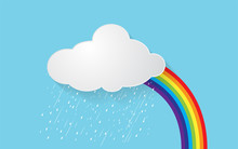 Cloud With Rain And Rainbow