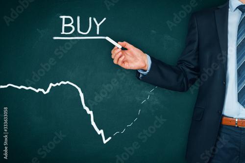 Fototapeta Investment opportunity to buy in crisis obraz