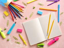 Notebook With School Supplies ...