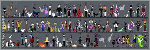 Personaggi e caricature serie 5 Canvas Print