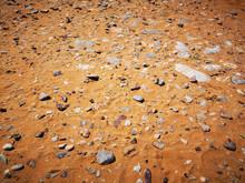 Fine Golden Coastal Sand On Wh...
