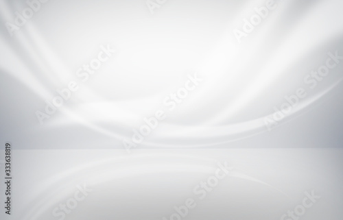 Fototapety, obrazy: Abstract studio background empty white wall in white room template