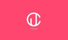 Alphabet Letter Icon Logo CU O...