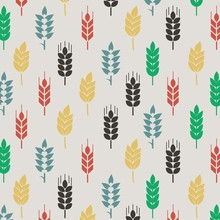 Fullcolor Wheat Pattern Background Vector