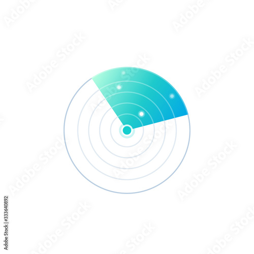 radar vector icon Wallpaper Mural