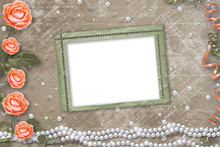 Holiday Card With Pearls, Fram...