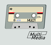 Audio Cassette Isolated On Whi...