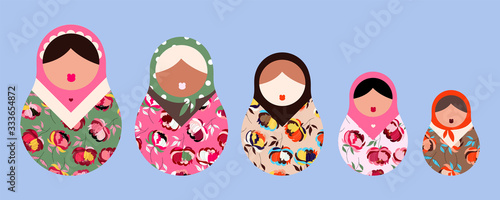 Photo Matryoshka dolls