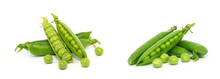 Fresh Green Peas Isolated On A...