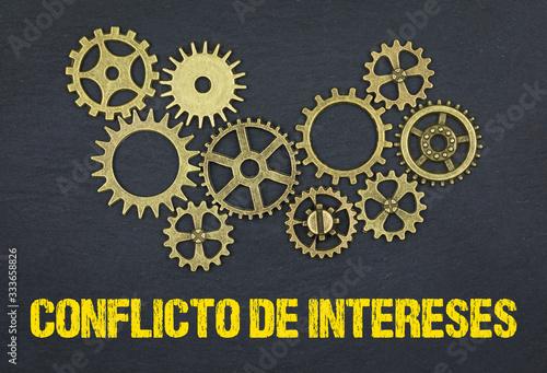 Conflicto de intereses Canvas Print