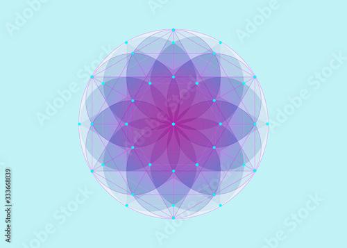 Fotografía Seed of life symbol Sacred Geometry