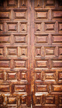 Picture Of An Old Wooden Door.