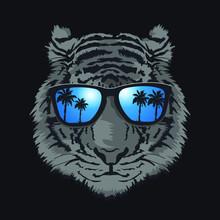 Tiger Illustration With Sunglasses