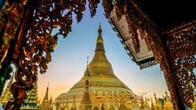 Shwedagon Pagoda In Yangon, My...