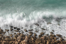Sea Waves And Rocks-long Expos...
