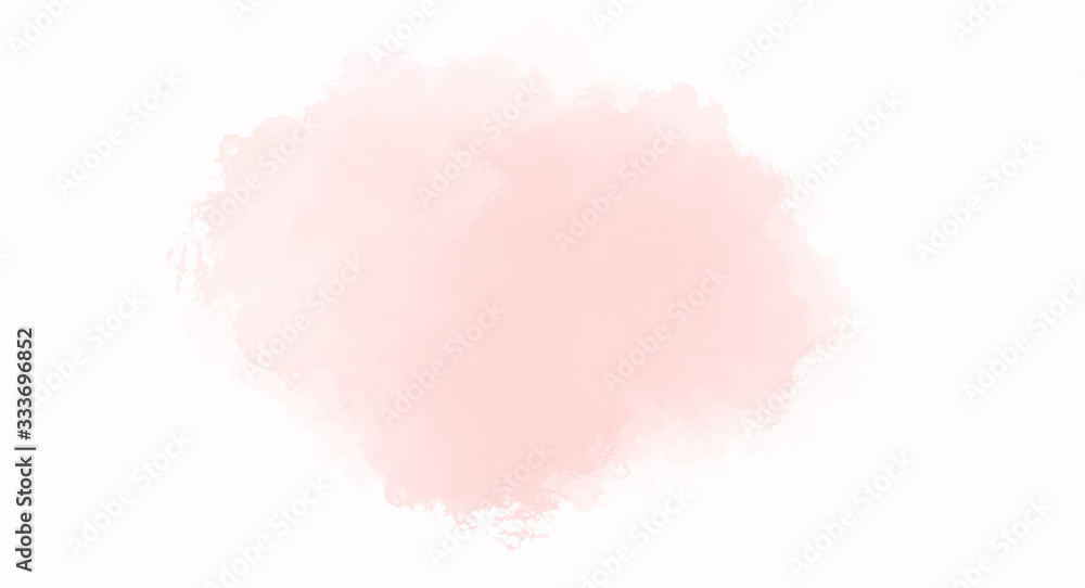 Fototapeta Soft Pink watercolor background for your design, watercolor background concept, vector.