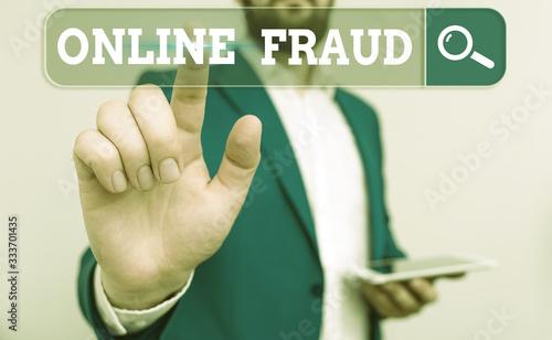 Word writing text Online Fraud Fototapeta