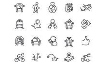 Public Transit Icons  Vector D...