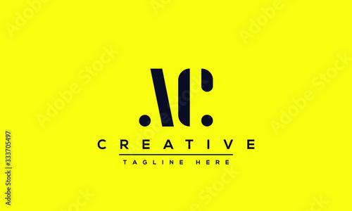 Modern letters AC, A&C Logo Design Template Vector. Canvas Print