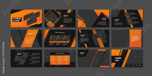 Minimal slides presentation background template Fototapeta