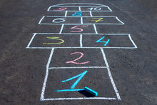 Hopscotch Game Drawn With Chal...