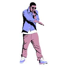 Drake Singing On Stage Charact...