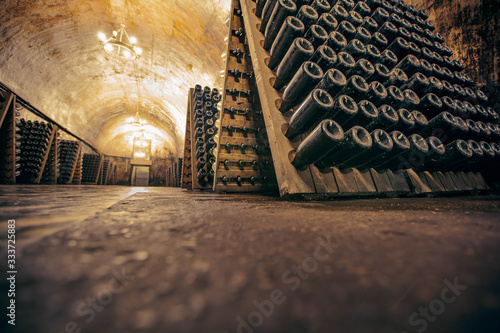 Photo Champagne facory storehouse in the cellar