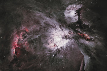 The Orion Nebula Messier 42 diffuse nebula  in constellation Orion..Elements of this image are furnished by NASA.