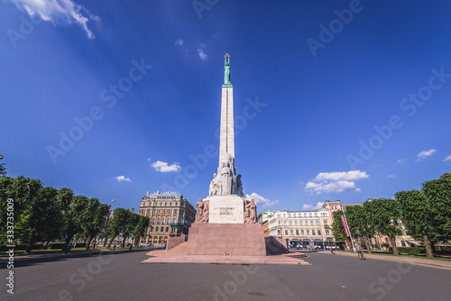 Fotografie, Obraz Monument of Freedom in Riga, symbol of independence and sovereignty of Latvia