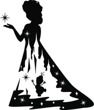 Silhouette Of A Girl With Umbr...