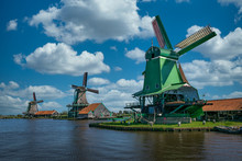 Windmills In Zaanse Schans.