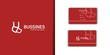 minimal style business logo set with business card