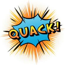 """'Quack"""" Sound Effect Logo."""