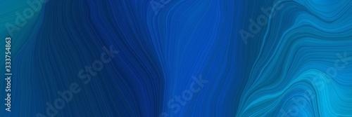 Obraz na plátně elegant futuristic background banner with strong blue, midnight blue and dodger blue color