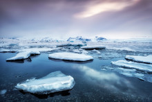 Famous Jokulsarlon Bay On Icel...