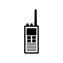 Walkie Talkie Icon Isolated On...