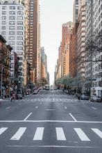 Empty Avenue During Coronavirus Outbreak