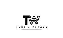 Initial TW ,WT ,T ,W  Letter Logo Design