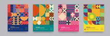 Abstract Bauhaus Geometric Pat...