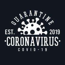 Coronavirus Icon Original. A Logotype Sports College And University Style. Illustration Design.