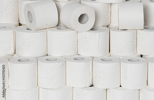 Cuadros en Lienzo Toilet paper rools stacked on top of each other