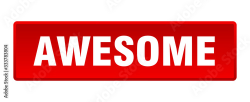 awesome button. awesome square red push button Canvas Print