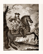 Equestrian Portrait Of Philippe II  Duke Of Orleans (1674 - 1723)  Member Of The Royal Family Of France And Ruler In The Regency Period.