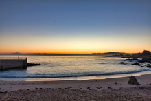 Tranquil Sunrise Scene At Pacific Gove Beach On The Monterey Peninsula.