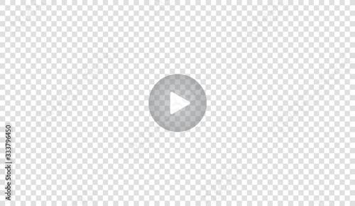 Slika na platnu Play video sign or button vector